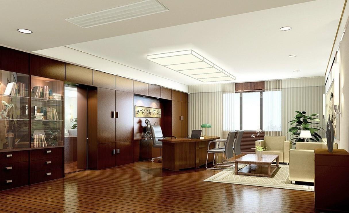 中式风格董事长办公室装修效果图