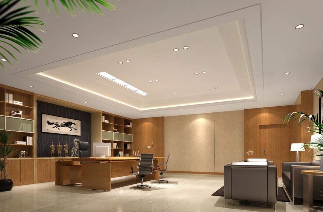 现代风格董事长办公室装修效果图