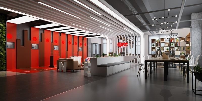 重庆广告公司办公室装修案例