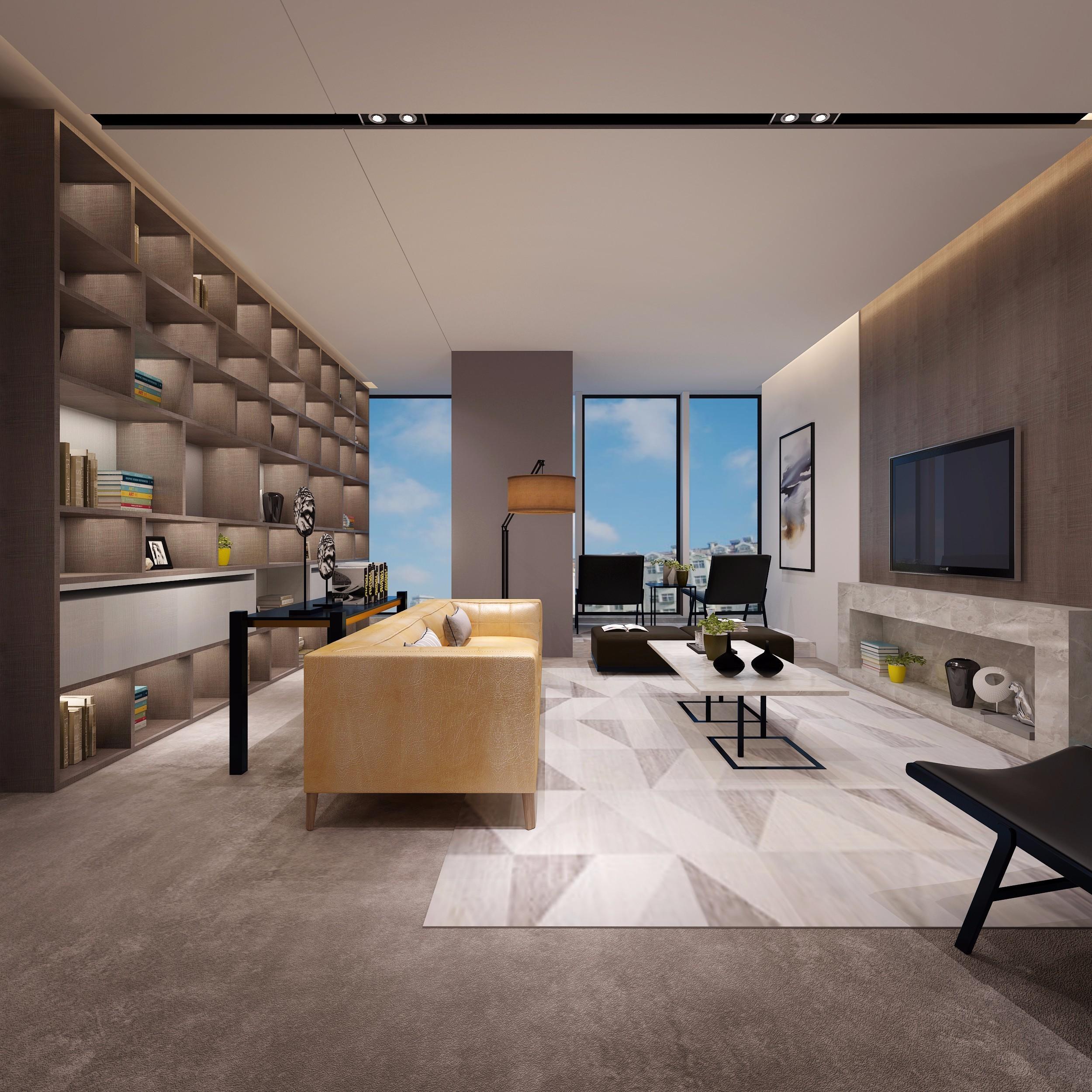 新中式办公室装修图