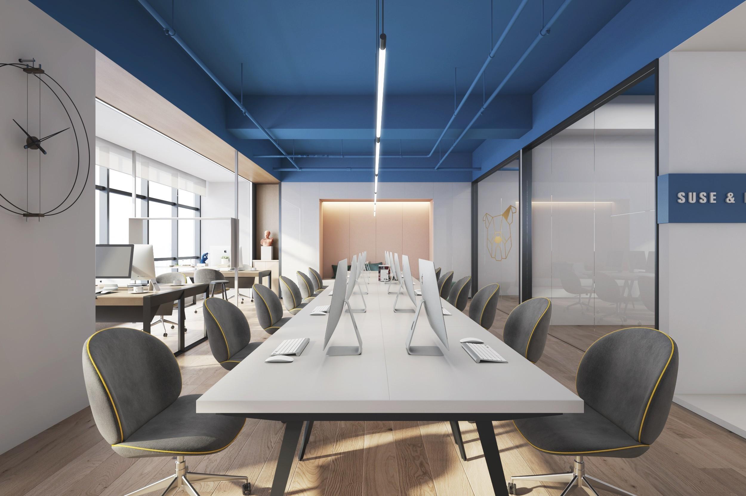重庆彩色调办公室设计效果图