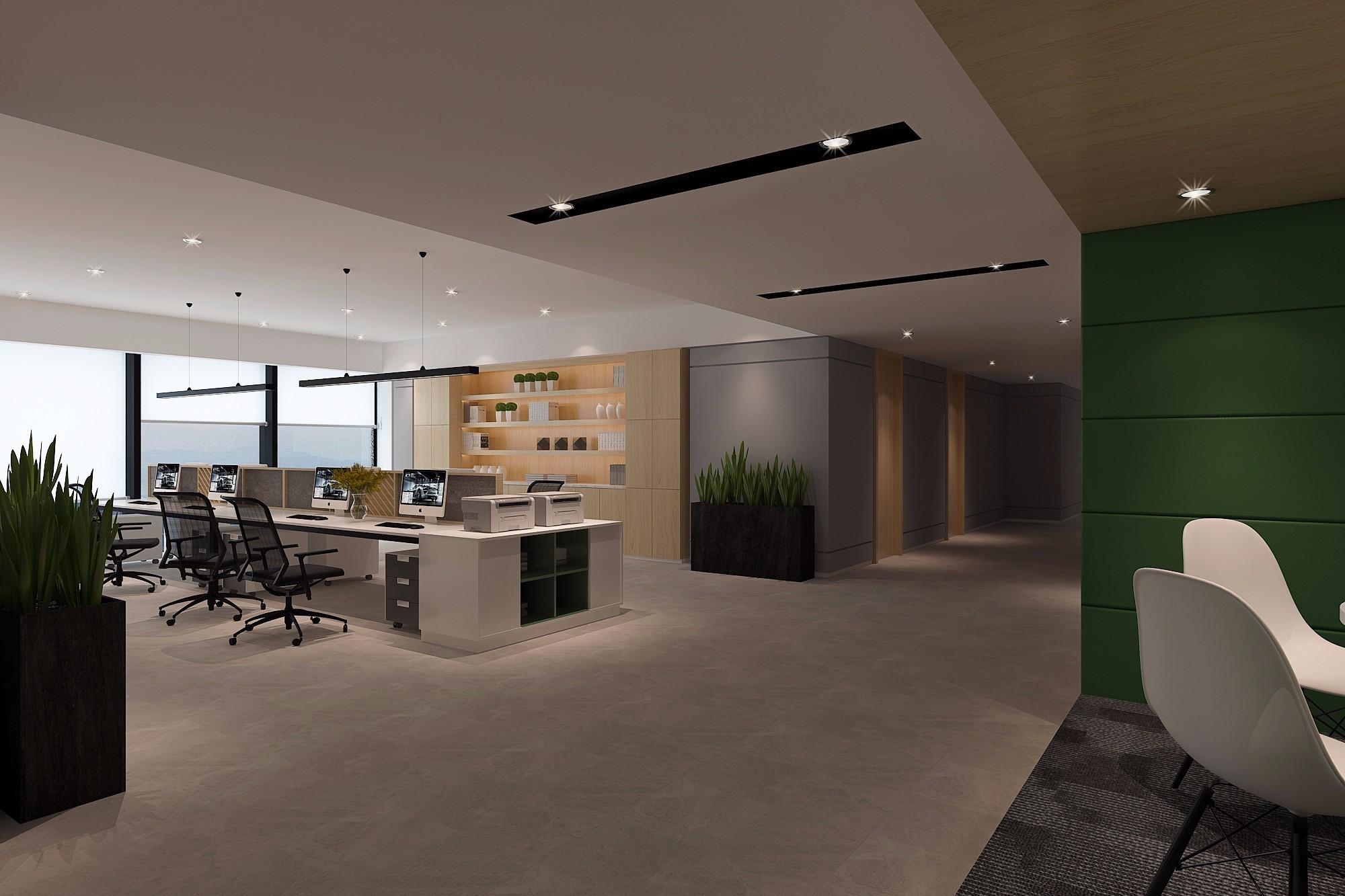 中式风格办公室装修设计效果图