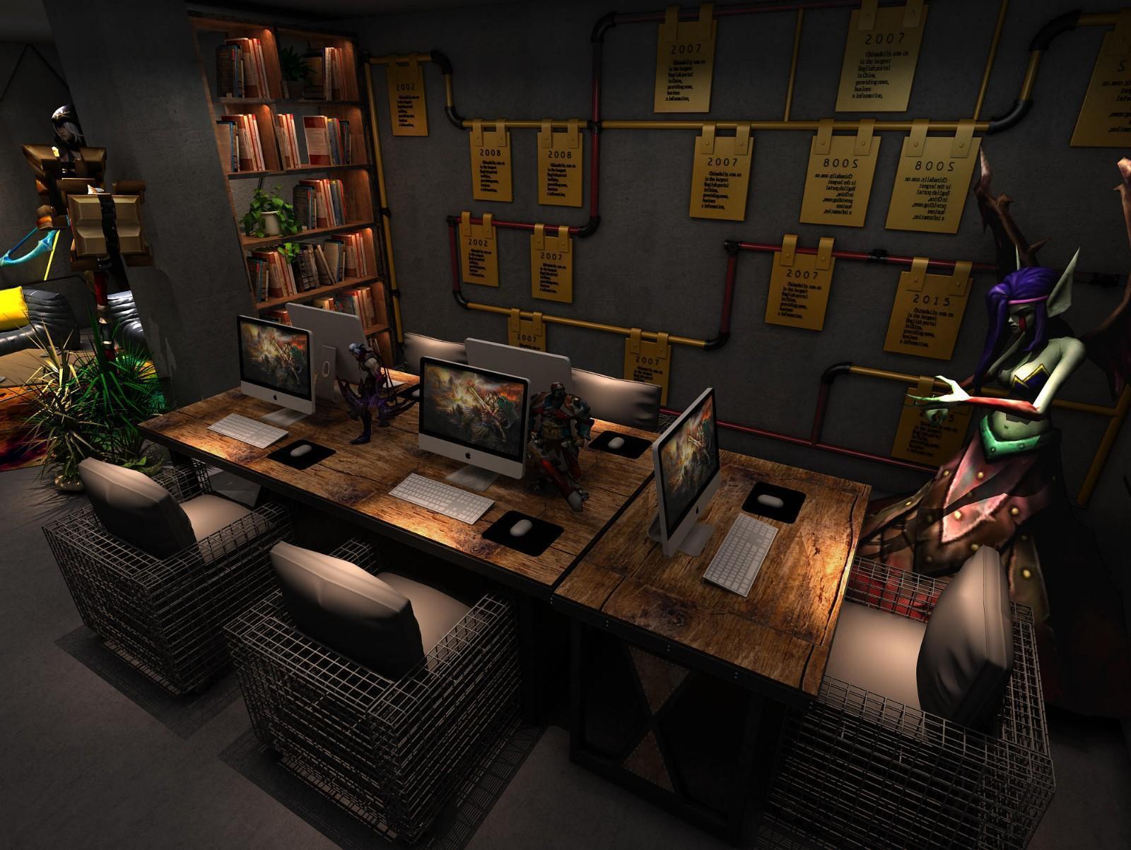 工业风游戏动漫室内装修案例