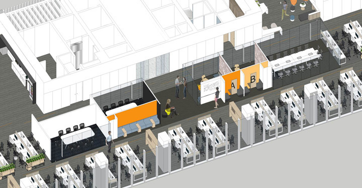 科技感游戏公司办公室装修