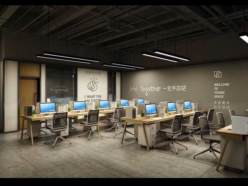 手游公司办公室设计装修图