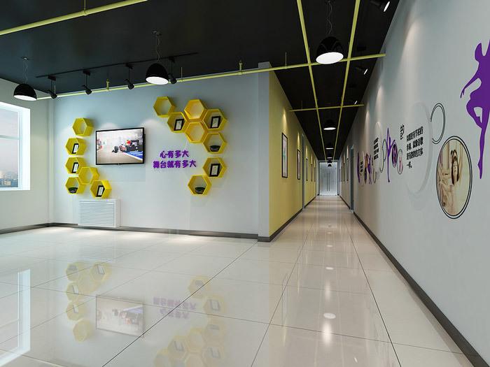 重庆舞蹈培训机构装修案例
