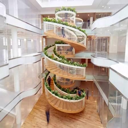 重庆办公室旋转楼梯效果图赏析