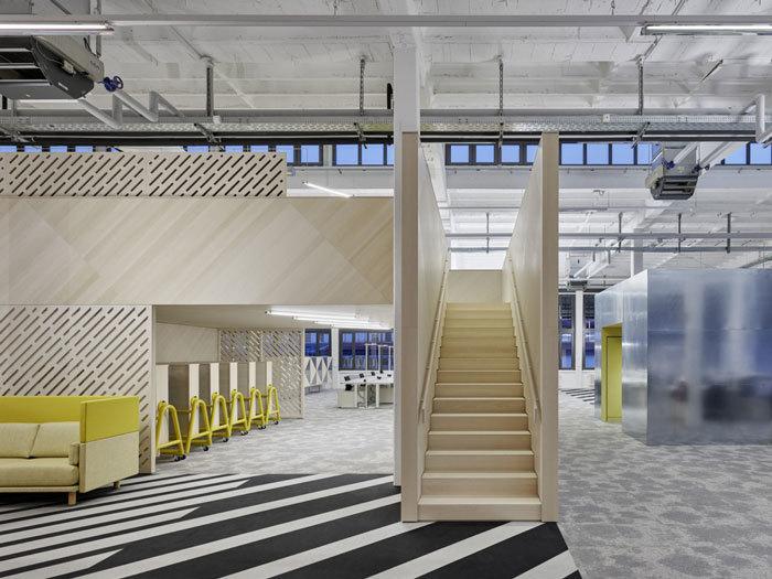工厂办公区楼梯效果图参考