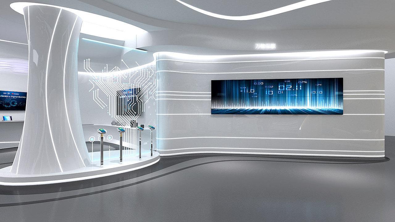 重庆5G智能科技展厅设计效果图赏析