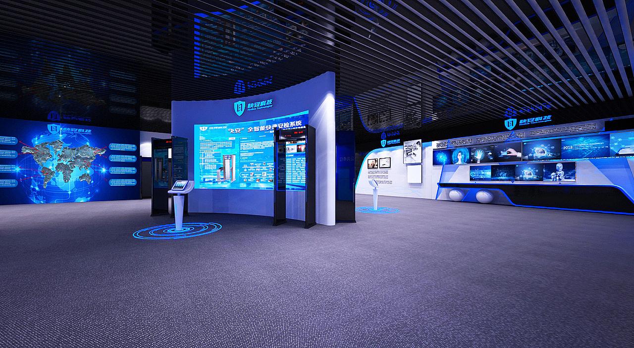 重庆企业科技智能展厅效果图赏析