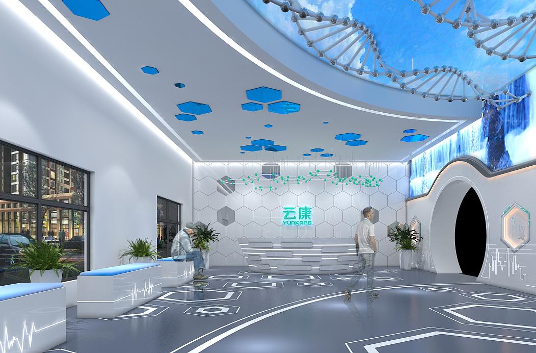 重庆医疗展厅装修效果图赏析