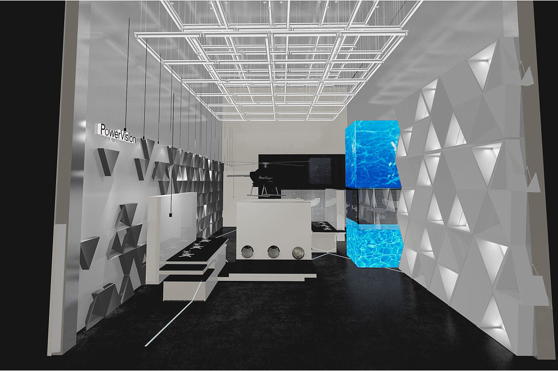 无人机展厅设计效果图赏析
