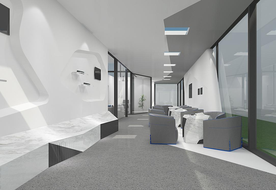 重庆智慧门诊展厅装修设计效果图赏析