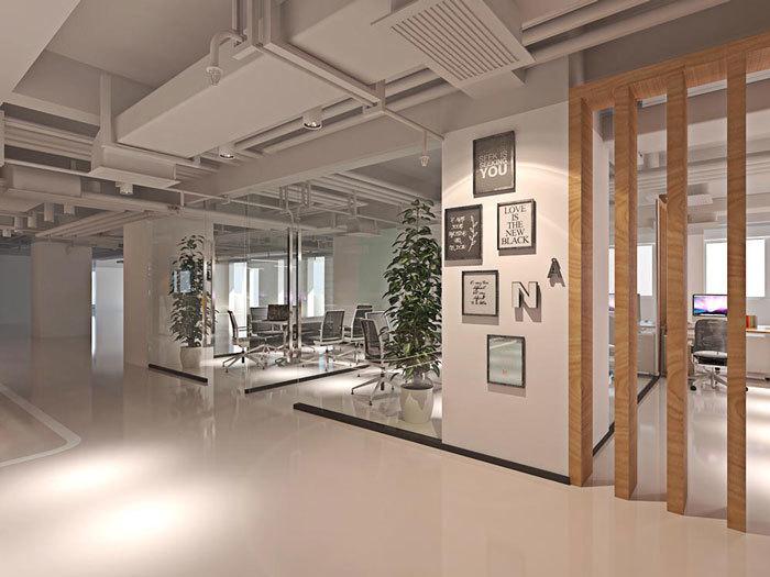 重庆办公室装修设计效果图赏析