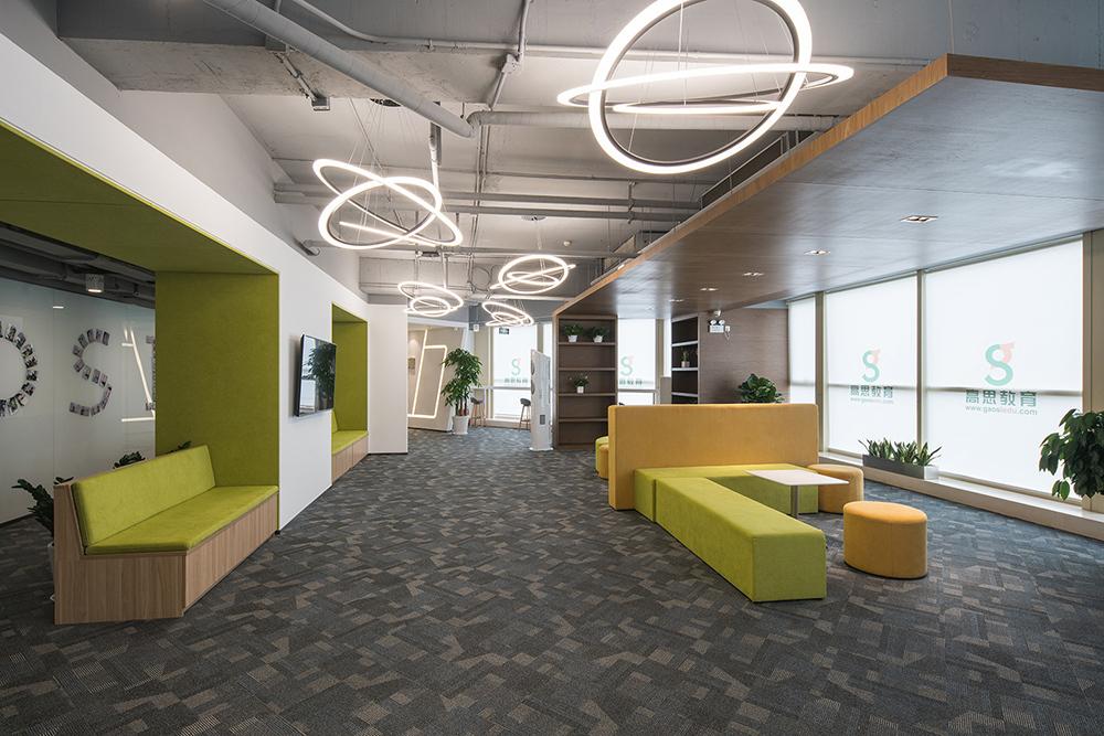 重庆教育培训机构办公室装修设计效果图赏析
