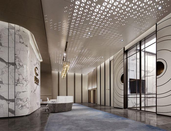 重庆药业制药公司办公室装修设计效果图赏析