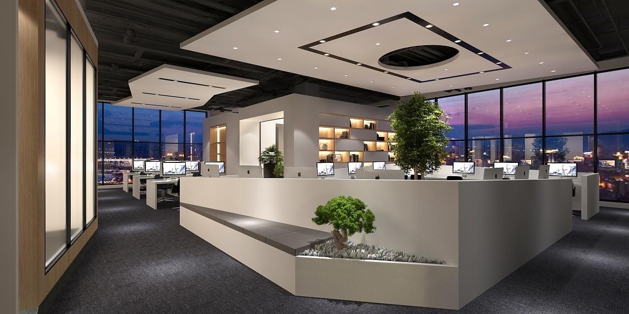 漂亮办公楼装修设计效果图赏析