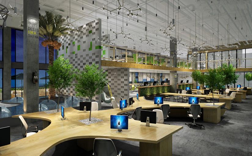 创客小镇共享办公空间装修设计赏析
