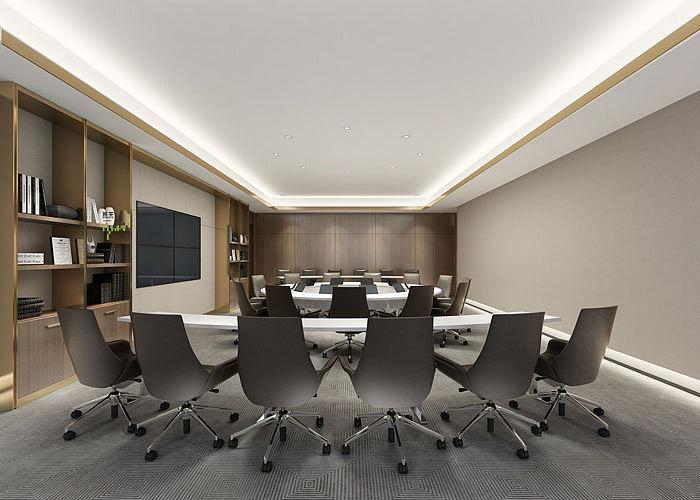 总部办公室装修设计效果图