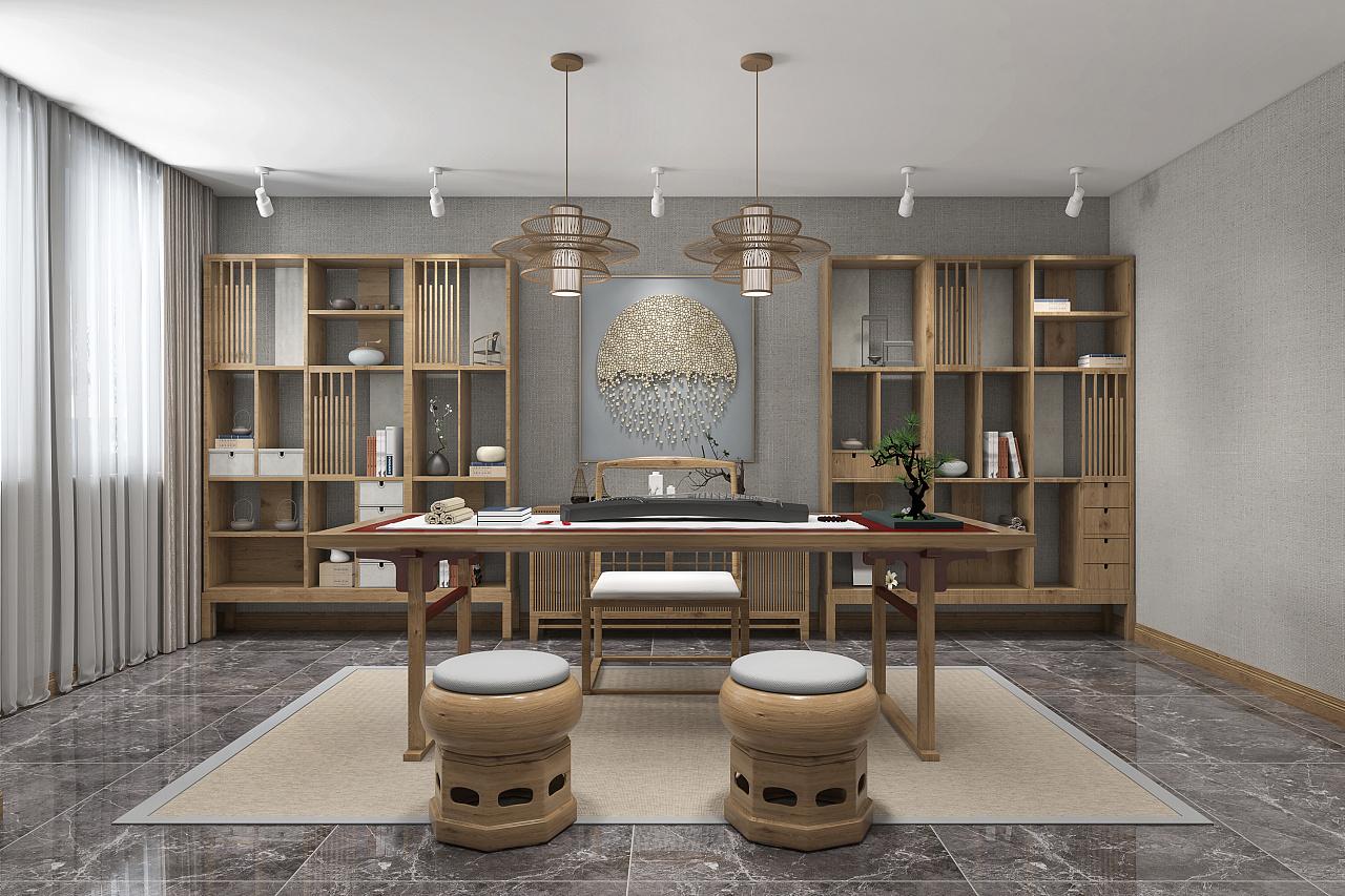 新中式风格办公室装修设计赏析
