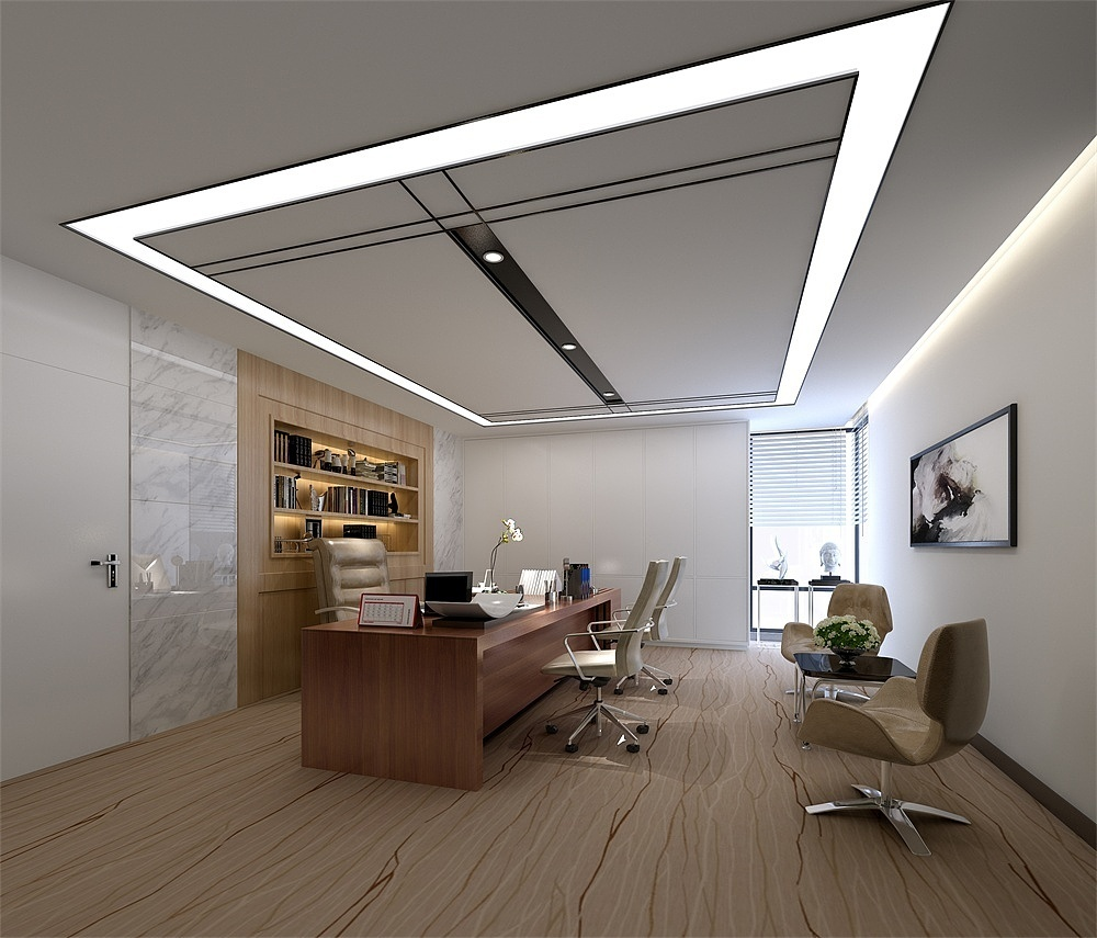 中國石化高檔辦公室裝修設計效果圖賞析